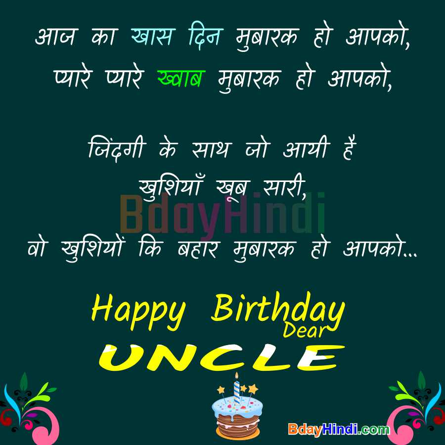 Happy Birthday Uncle Wishes Images in Hindi